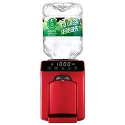 屈臣氏 家居水機 - Wats-Touch Mini 溫熱水機 (紅色 / 白色) + 8公升樽裝蒸餾水 x 32樽 (2樽x16箱) (電子水券)
