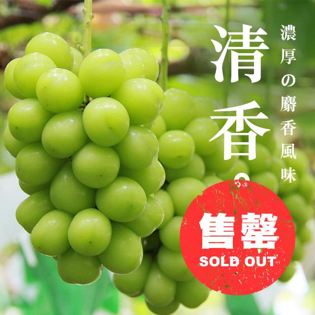 日本長  野香印青提子 (麝香葡萄)