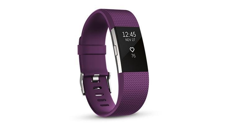 圖片 Fitbit Charge 2™ 心率 + 健身手環 - 紫紅色大碼