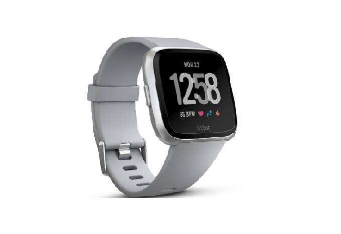 Fitbit Versa Smart Watch with Silver Grey Band (Suggested Retail Price $1,798)