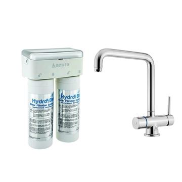 图片 Azure Hydro Blue 台下式滤水系统 及 Royal LED 厨房及直接饮用两用龙头