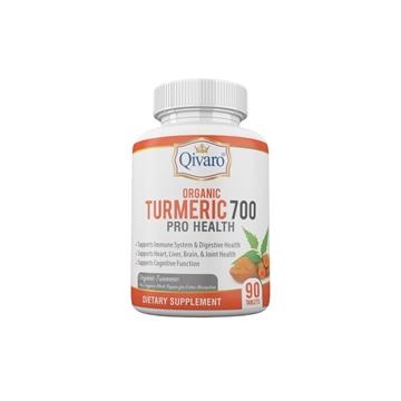 Picture of Qivaro Organic Turmeric 700 Pro Health (90 Tablets)