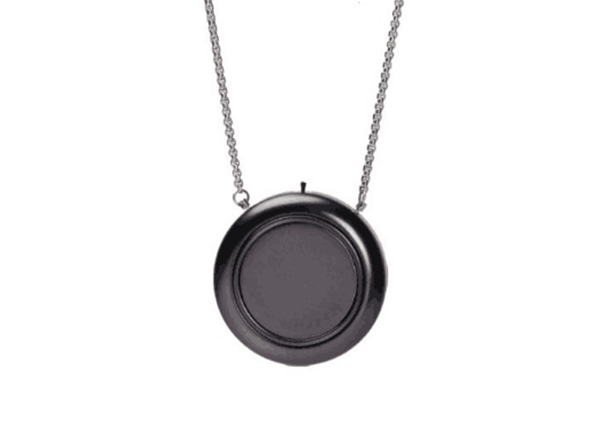 Japan Silver Portable Necklace Air Purifier (Price: $499)