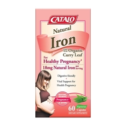 CATALO  Natural Iron Made With Organic Curry Leaf 60 Capsules