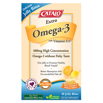 Picture of Catalo Extra Omega-3 with Vitamin D3 Jelly Bites 30 Jelly Bites