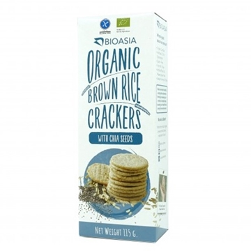 Picture of BioAsia Organic Brown Rice Crackers with Chia Seeds (115g)