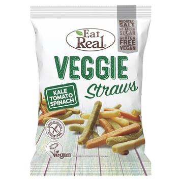 圖片 Eat Real 甘藍番茄菠菜純素脆條 45克