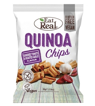Picture of Eat Real Quinoa Chips Sun-dried Tomato & Roasted Garlic Flavour 30g