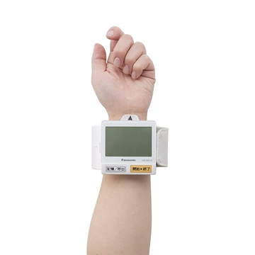 图片 Panasonic 手腕式血压计 EW-BW10-W (日文版本)