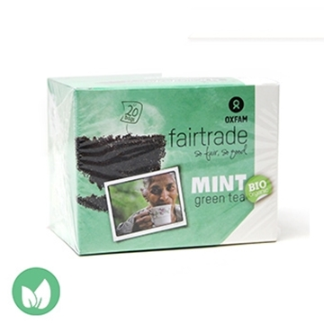 Picture of Oxfam Fairtrade Organic Green Tea with Mint 36g