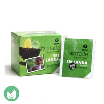 Picture of Oxfam Fairtrade Organic Green tea with lemon Flavor 36g