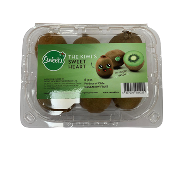 Picture of Fresh Checked Chilean Green Kiwi 6 pieces/tray, 500-600 g
