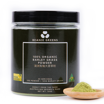 Picture of Beanie 100% Australian Organic Barley Grass Powder (30 days)