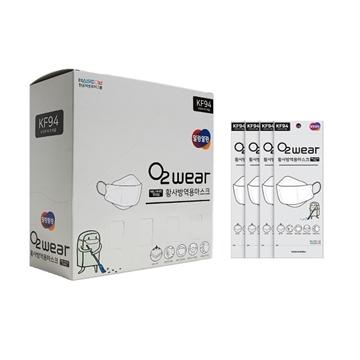圖片 O2 Wear 韓國 KF94 四層防疫立體口罩 (成人/兒童50個) (免費送貨)
