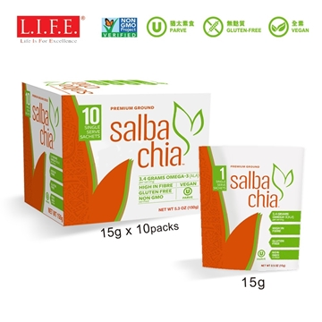 Picture of Organic Salba Chia Seed Premium Ground Boost 15g x 10 sachets