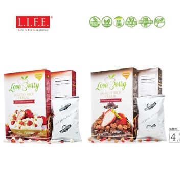 Picture of Organic Jasmine Rice Cereal with Crispy Strawberry (Original / Cocoa) 30g x 4 sachets