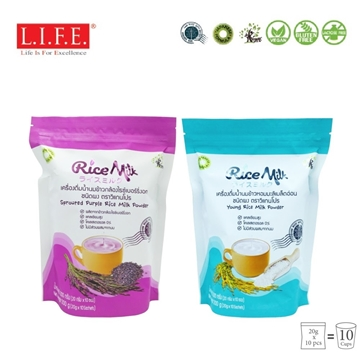 Picture of Organic Rice Milk Powder (110 days Young Rice/Sprouted Purple Rice) 20g x 10 sachets