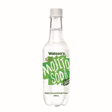 Picture of Watson's Mojito Flavoured Soda Water 420 ml 24 Bottles