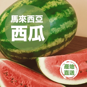 Picture of Fresh Checked Malaysian Watermelon (1 piece, 5-6.5kg)