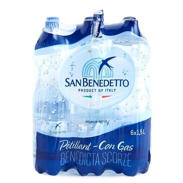 圖片 San Benedetto 聖碧濤意大利天然礦泉水 (有汽)  1.5公升 6支