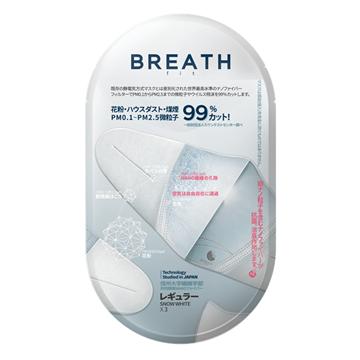 圖片 Breath Silver Fit Regular 成人99% 抗菌口罩 (3個 x 30包) (韓國製造)