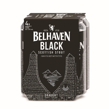 Picture of Belhaven Black Scottish Stout 440ml 4 Cans x 6 Packs