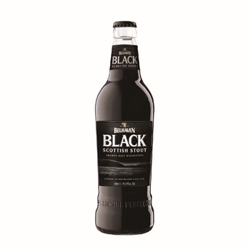 Picture of Belhaven Black Scottish Stout 500ml 16 Bottles
