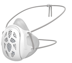 Gill Face Mask (FDA approved) (Adult) (White 1pc)
