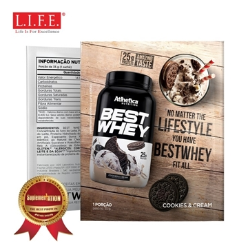 Picture of BEST WHEY Protein Powder (Cookies & Cream) 35g
