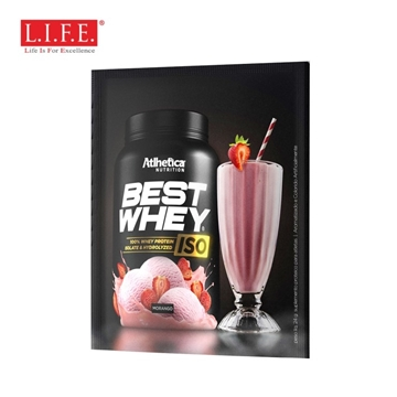 Picture of 100% ISOLATE & HYDROLYZED PROTEIN (Strawberry Milk Shake) 24g