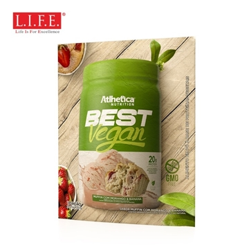 Picture of BEST VEGAN Superfood Protein Powder (Strawberry & Banana) 35g
