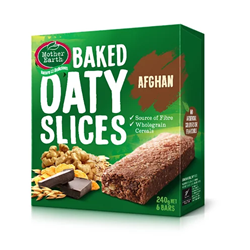Mother Earth New Zealand Baked Oaty Slices Afghan 240gm
