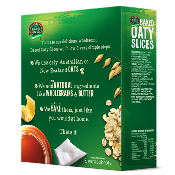 Picture of Mother Earth New Zealand Baked Oaty Slices Anzac 240gm
