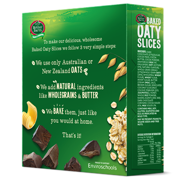 Picture of Mother Earth New Zealand Baked Oaty Slices Choco Chip 240gm