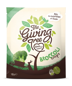 Picture of Giving Tree Vacuum Fried Broccoli Crisps 18g