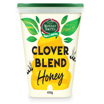 Picture of Mother Earth New Zealand Clover Blend Honey 450gm