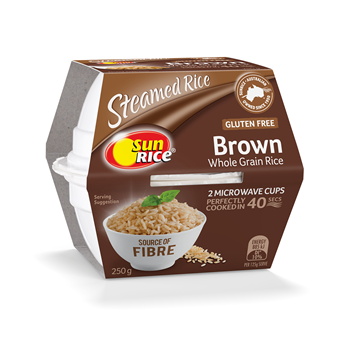 Picture of SunRice Microwave Cups Brown Rice 250gm