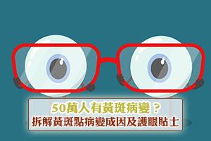 News: 50萬人有黃斑病變?拆解黃斑點病變成因(附護眼食物及護眼產品邊隻好)