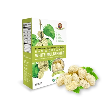 Picture of Earth Harvest Raw Organic White Mulberries 150g