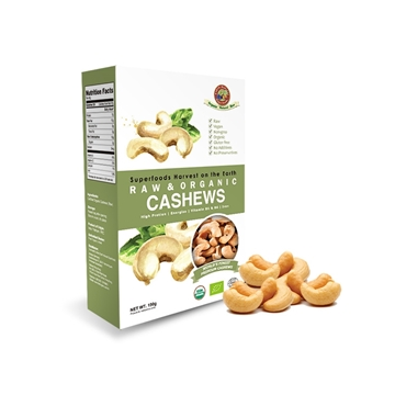 Picture of Earth Harvest Organic Raw Cashew Nuts 150g