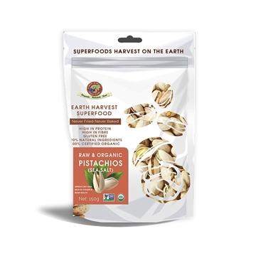 Picture of Earth Harvest Organic Sea Salt Pistachio 150g