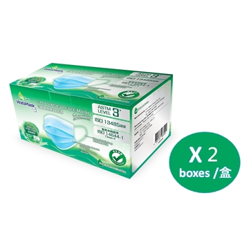 Picture of WatsMask Adult 3-Ply Hygienic Face Mask ASTM Level 3 (30pcs Individual Pack) x 2 Boxes
