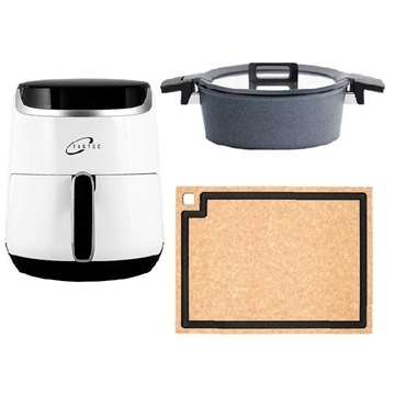 Picture of Home Kitchen Special Package Lucky bag (Tastec DIGITAL AIR FRYER + WOLL 24X9CM SAUTE CASSEROLE + epicurean CUTTING BOARD)