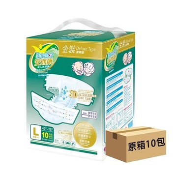 Picture of ElderJoy Adult Soft Diapers Deluxe Type Large Size (10 packs x 10 pcs)
