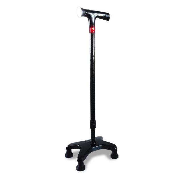 Agegracefully Essential 碳纖四腳拐杖 (照明警報手柄)