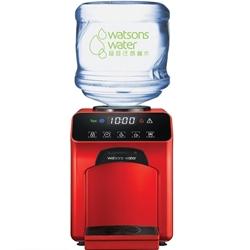 屈臣氏Wats-Touch冷熱水機 (紅色)  + 12公升蒸餾水 x 6樽(電子水券)
