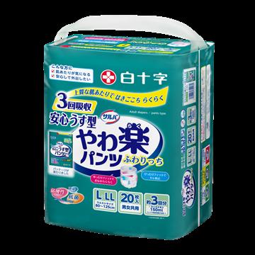 图片 日本喜舒乐 成人纸尿裤 轻巧型 大码 (20片/包)