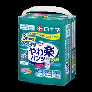 图片 日本喜舒乐 成人纸尿裤 轻巧型 中码 (22片/包)
