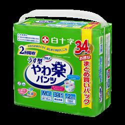 日本喜舒乐 成人轻柔纸尿裤薄装 中码 (34片/包)
