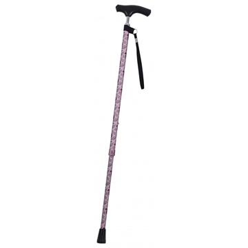圖片 銀適 可調節式拐杖 (粉色復古水滴/銀色大花)